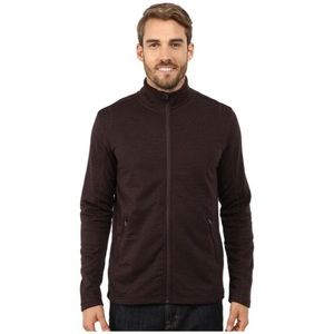 Men's Prana Gavin Full Zip Fleece Jacket, Brown, L
